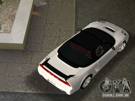 Honda NSX-R para GTA Vice City vista inferior