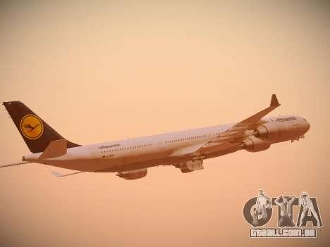 Airbus A340-600 Lufthansa para GTA San Andreas vista superior