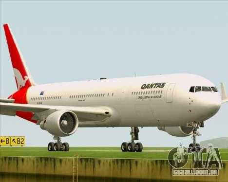 Boeing 767-300ER Qantas para GTA San Andreas vista interior