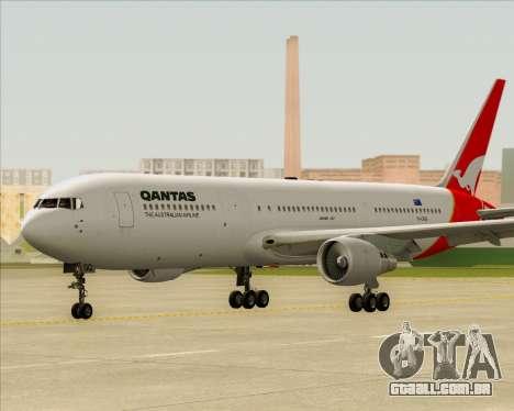 Boeing 767-300ER Qantas para GTA San Andreas vista superior