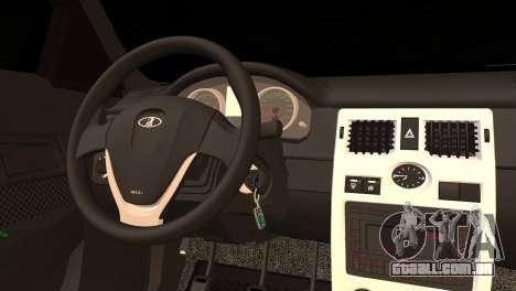 Lada 2170 Priora Black Atack para GTA San Andreas traseira esquerda vista