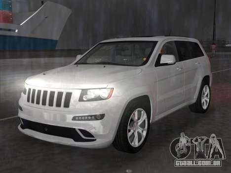 Jeep Grand Cherokee SRT-8 (WK2) 2012 para GTA Vice City vista traseira