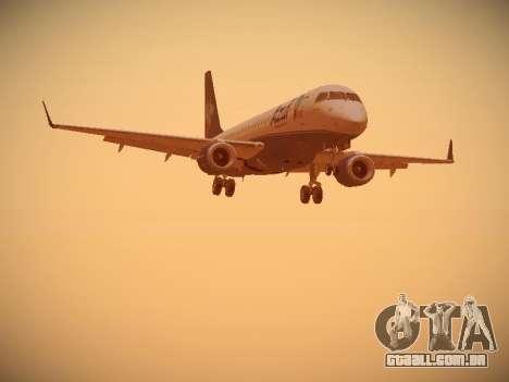 Embraer E190 Azul Brazilian Airlines para GTA San Andreas traseira esquerda vista
