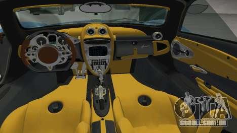 Pagani Huayra 2012 para GTA Vice City vista direita