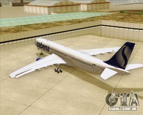 Airbus A330-300 Sabena para as rodas de GTA San Andreas