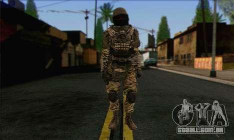 Task Force 141 (CoD: MW 2) Skin 9 para GTA San Andreas