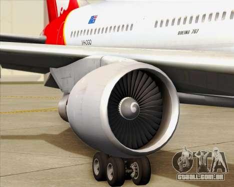 Boeing 767-300ER Qantas para as rodas de GTA San Andreas