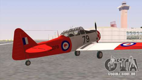 North American T-6 TEXAN NZ1079 para GTA San Andreas esquerda vista
