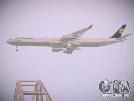 Airbus A340-600 Lufthansa para vista lateral GTA San Andreas