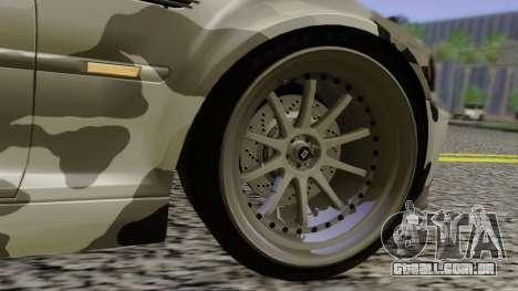 BMW M3 E46 Coupe 2005 Hellaflush v2.0 para GTA San Andreas vista inferior