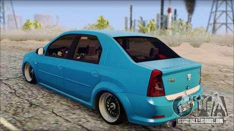 Dacia Logan BS GARAGE para GTA San Andreas esquerda vista