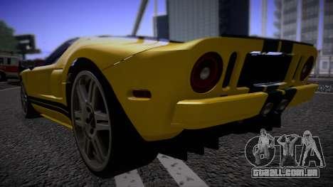 Ford GT 2005 Road version para GTA San Andreas traseira esquerda vista
