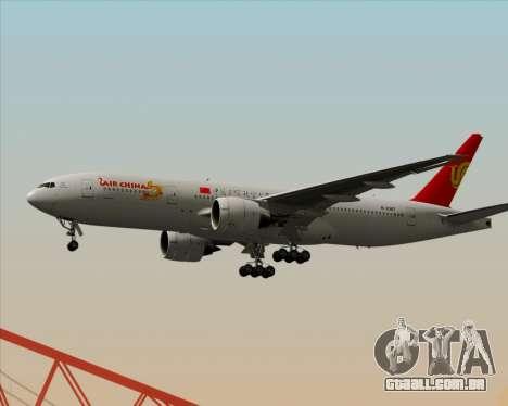 Boeing 777-200ER Air China para GTA San Andreas traseira esquerda vista