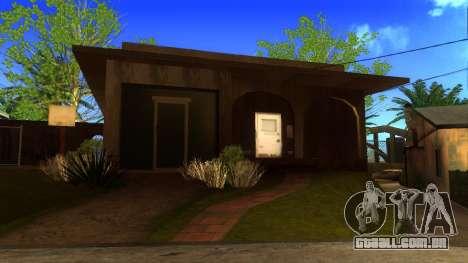 Novas texturas HD casas na grove street v2 para GTA San Andreas quinto tela