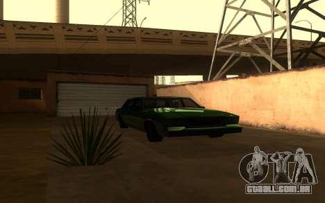 Tahoma Restyle para GTA San Andreas traseira esquerda vista