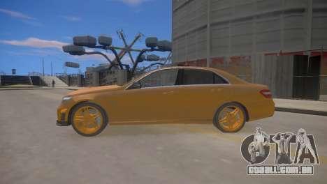 A Mercedes-Benz E63 AMG для GTA 4 para GTA 4 esquerda vista