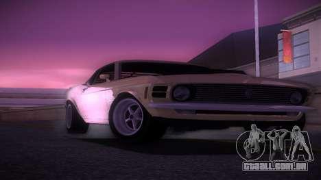 Ford Mustang 492 para GTA Vice City vista traseira esquerda