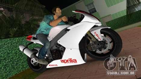 Aprilia RSV4 2009 White Edition I para GTA Vice City
