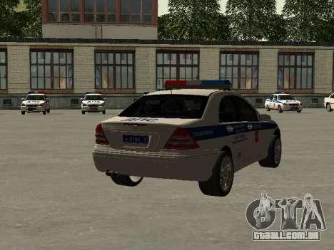 Mercedes Dps para GTA San Andreas esquerda vista