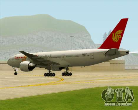 Boeing 777-200ER Air China para GTA San Andreas vista inferior