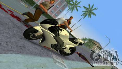 Aprilia RSV4 2009 White Edition II para GTA Vice City vista traseira