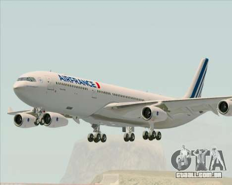 Airbus A340-313 Air France (New Livery) para GTA San Andreas