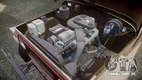 Toyota FJ40 Land Cruiser 1978 v1.7 para GTA 4 vista interior