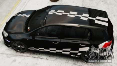 Volkswagen Golf R 2010 MTM Paintjob para GTA 4 traseira esquerda vista