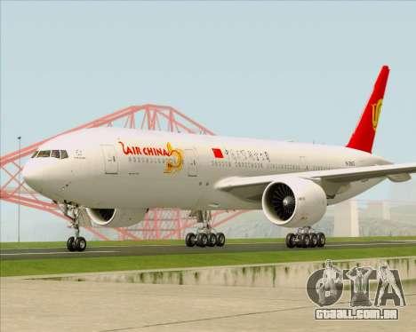 Boeing 777-200ER Air China para GTA San Andreas vista interior
