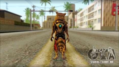 Guardians of the Galaxy Rocket Raccoon v2 para GTA San Andreas segunda tela