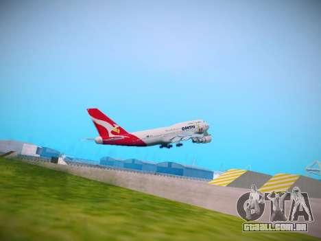 Boeing 747-438 Qantas Boxing Kangaroo para GTA San Andreas vista direita