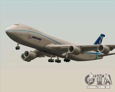Boeing 747-8 Cargo House Livery para GTA San Andreas traseira esquerda vista