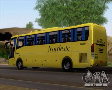 Busscar Elegance 360 Viacao Nordeste 8070 para GTA San Andreas esquerda vista