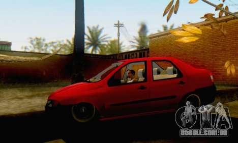 Fiat Siena 1998 para GTA San Andreas traseira esquerda vista