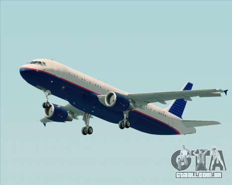Airbus A320-232 United Airlines (Old Livery) para as rodas de GTA San Andreas