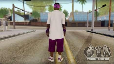East Side Ballas Skin 1 para GTA San Andreas segunda tela