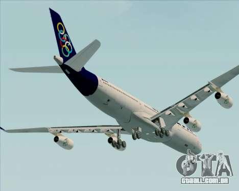 Airbus A340-313 Olympic Airlines para GTA San Andreas vista superior