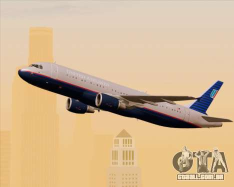 Airbus A320-232 United Airlines (Old Livery) para GTA San Andreas vista interior