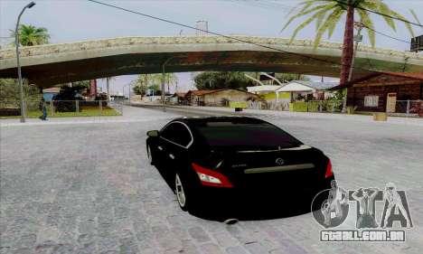 Nissan Maxima para GTA San Andreas traseira esquerda vista