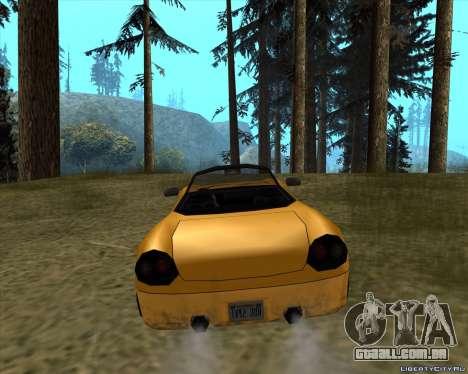 Stinger para GTA San Andreas traseira esquerda vista