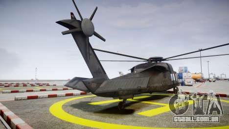 Sikorsky MH-X Silent Hawk [EPM] v2.0 para GTA 4 traseira esquerda vista