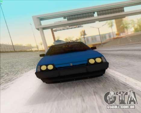 ВАЗ 2109 Baixa Clássico para GTA San Andreas vista traseira