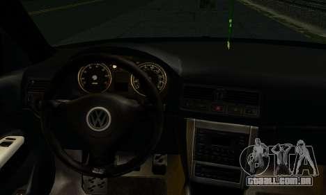 Volkswagen Golf IV para GTA San Andreas traseira esquerda vista