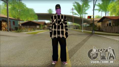 East Side Ballas Skin 3 para GTA San Andreas