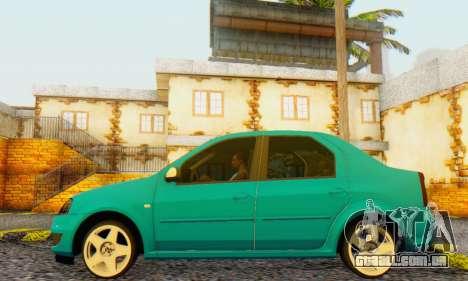 Dacia Logan Delta Garage para GTA San Andreas vista direita