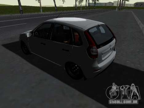 Lada Kalina 2 para GTA San Andreas traseira esquerda vista