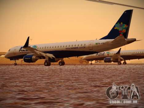 Embraer E190 Azul Brazilian Airlines para GTA San Andreas vista direita