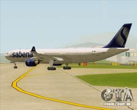 Airbus A330-300 Sabena para GTA San Andreas vista traseira
