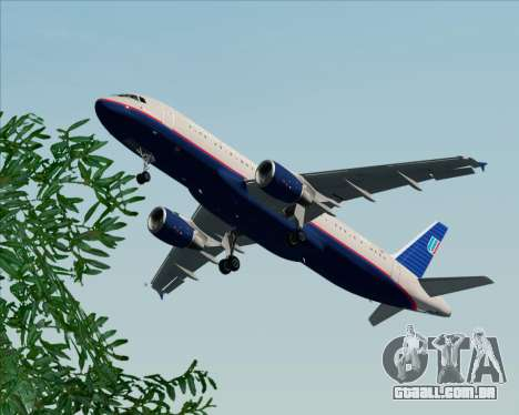 Airbus A320-232 United Airlines (Old Livery) para GTA San Andreas interior