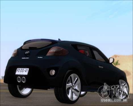 Hyundai Veloster 2013 para GTA San Andreas vista direita